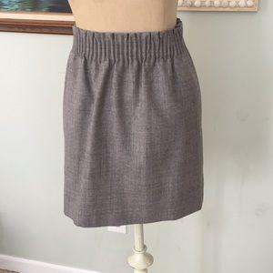 Jcrew gray wool skirt.
